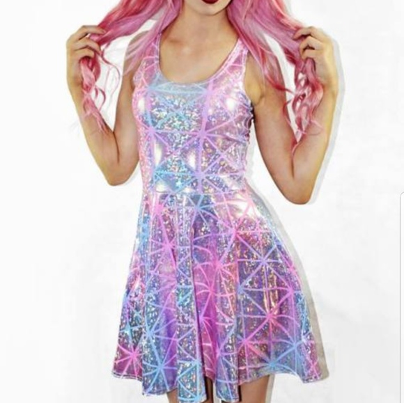 5741ca85c9cd7 Living dead clothing Dresses & Skirts - Holographic print dress living dead  clothing